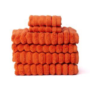 Exklusivt handduksset 6 delar Orange