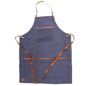 Strömshaga Förkläde Canvas/Läder Blå