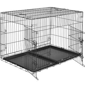tectake Hundebur med to låger - 106 x 70 x 76 cm