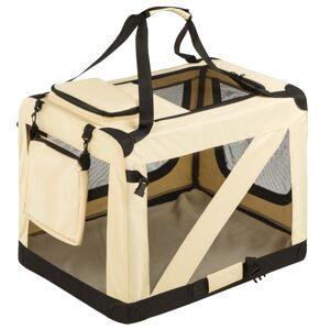 tectake Hundebur til transport foldbar - L / 69,5 x 52 x 52 cm