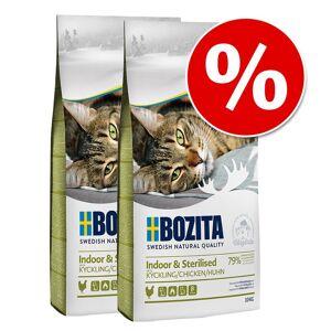 Bozita Økonomipakke: 2 x 10 kg Bozita tørfoder - Indoor & Sterilised