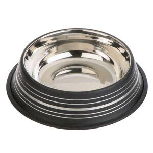 zooplus Exclusive Silver Line skål i rustfrit stål - mat sort - 200 ml, Ø 15 cm