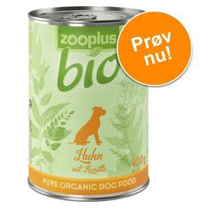 zooplus Bio Prøvepakke: 6 x 400 g zooplus bio - økologisk hundefoder - Økologisk Okse & Økologisk Boghvede