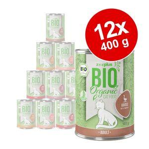 zooplus Bio 12x400g Mix 3: 5 varianter zooplus Bio kattefoder