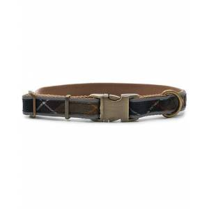 Barbour International Reflective Tartan Dog Collar Classic men M Brun