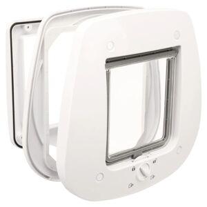TRIXIE 4-veis kattedør for glassdører 27x27 cm hvit
