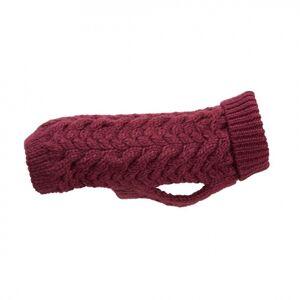 Basic Wool Plait Hundegenser Vinrød (35 cm)