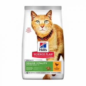 Hill's Science Plan Cat Mature Adult 7+ Senior Vitality Chicken & Rice (1,5 kg)