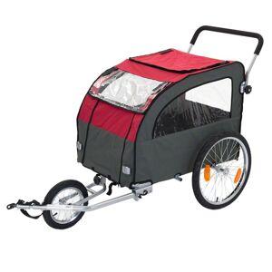 bitiba Cykelvagn Hund Globetrotter, upp till 40 kg - inkl. jogging-set