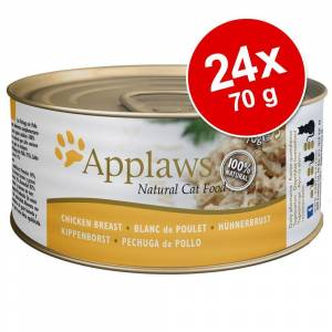 Applaws Ekonomipack: Applaws kattmat i buljong 24 x 70 g - Makrill & sardiner