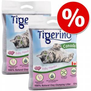 Tigerino 2 x 12 kg Tigerino Canada till sparpris! - Sensitive (utan parfym)