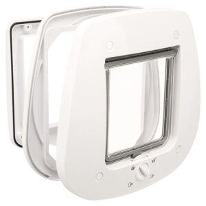 TRIXIE Kattlucka för glasdörrar 4-vägs 27x27 cm vit