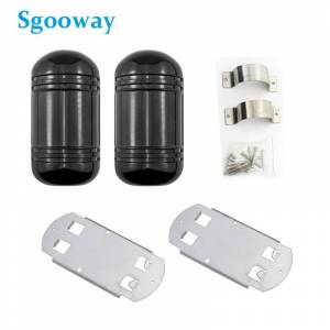 Beam Sgooway 100M Beam Sensor Alarm wired Dual Beam Photoelectric Infrared Detector Ir Barrier waterproof outdoor