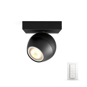 Philips Hue Buckram Taklampe Single Spot m/Switch Svart - Philips Hue  svart