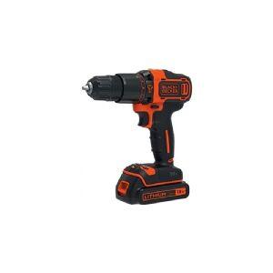 Black & Decker BDCHD18KBST, Power screwdriver, Pistol/straight handle, Sort, Orange, Overbelastning, 1400 rpm, 40 Nm