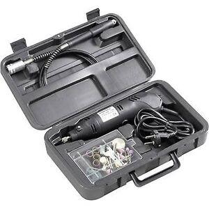 Basetech 814677 mini bore sett 80 stk. Multifunksjon verktøy inkludert tilbehør, inkl. sak 130 W