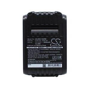 DeWalt DCF880C1-JP batteri (2600 mAh, Sort)