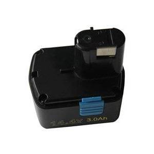 Hitachi DS 14DAF2 batteri (3000 mAh, Sort)