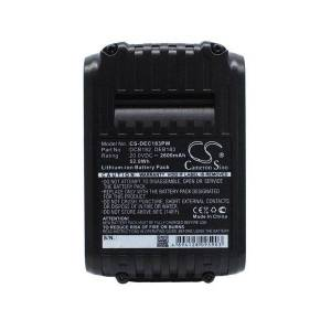 DeWalt Batteri (2600 mAh, Sort) passende til DeWalt DCH273NT