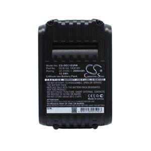 DeWalt Batteri (2600 mAh, Sort) passende for DeWalt DCN681N