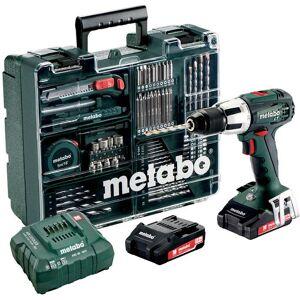 Metabo SB 18 LT Set Slagbormaskin med tilbehørssett, 2,0Ah batterier og lader