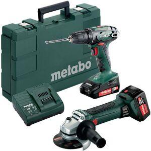 Metabo BS 18 + W 18 LTX 125 QUICK Verktøypakke med batterier og lader