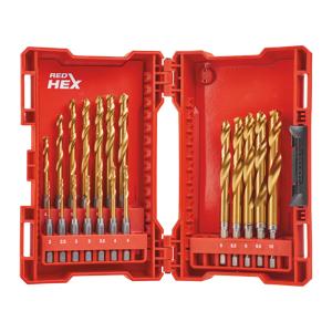 MILWAUKEE RED HEX Shockwave HSS Ground Titanium Metallbor