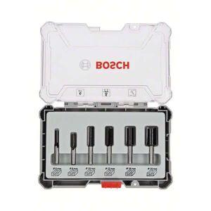 Bosch Frässtålset Hm Notfräsar 6mm Skaft 6st