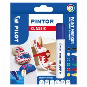 Pilot Pintor Medium 6-Pack Classic