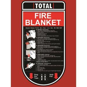 Total Se61216 Brandfilt 120 X 180 Cm, Räddning