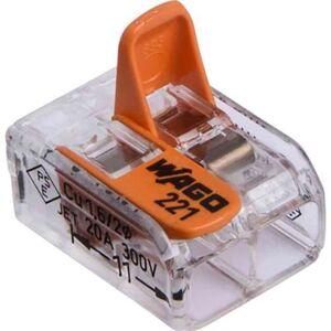 Wago 221-412 Kopplingsklämma 2-pol, 16-pack
