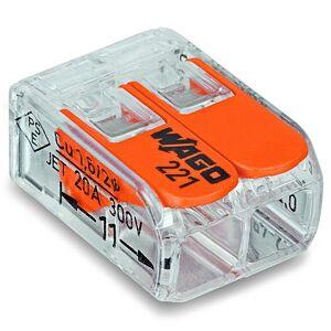 Wago 221-412 Kopplingsklämma 2-pol, 100-pack