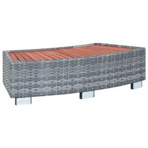 vidaXL Spatrappa grå konstrotting 92x45x25 cm