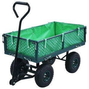 vidaXL Trädgårdsvagn grön 250 kg