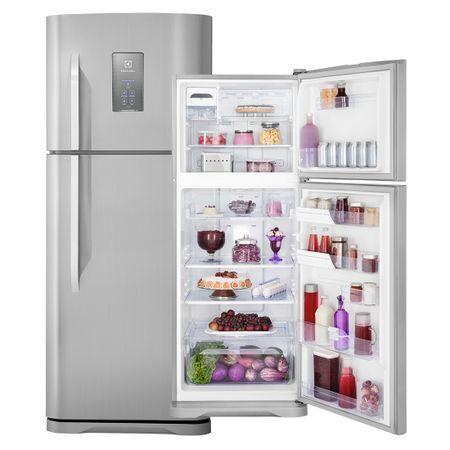 Electrolux Geladeira Refrigerador Frost Free TF51X Inox 433 Litros Turbo Freezer e Painel Blue Touch Electrolux 110 volts