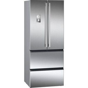 Siemens iQ700 Kylskåp/frys med dubbeldörrar, stål