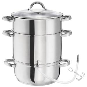 tectake Saftmaja Saftkokare AISI 430 rostfritt stål Ø 26cm - silver