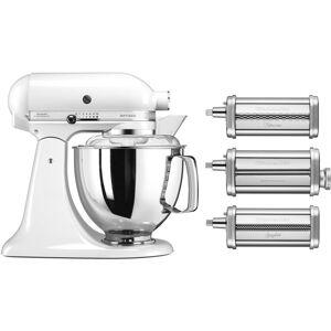 KitchenAid Artisan KSM175PSEWH Hvit + Pastatilbehør