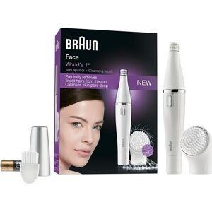 Braun - 2-i-1 Elektrisk Hårfjerner / Elektrisk Ansigtsrenser - Face 810