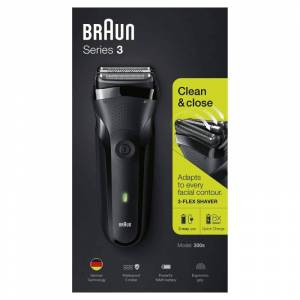 Braun Series 3 300s Black 1 pcs Hårtrimmer