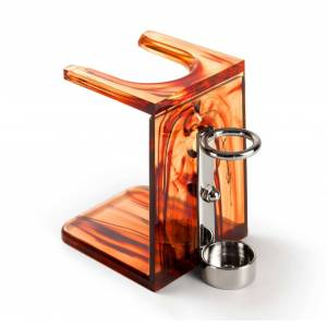 Mondial 1908 Mondial Drip Stand with Razor Support, Tortoise Shell