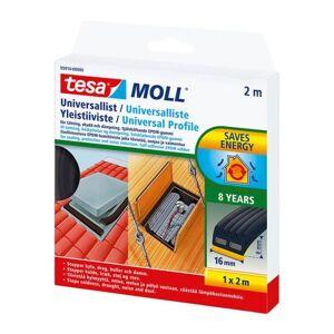 Tesa Universal 05910-00000-01 Tetningslist 2 m, 16 mm x 8 mm, svart