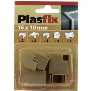 Plasfix 3420-3G Skjøte- og hjørnebiter til Plasfix, 16 x 10 mm Eikefarget