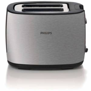 Philips Brødrister HD2628/20 Børstet Metall/Svart