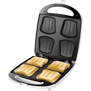 Unold Quadro Sandwich brødrister hengslet hvit, svart