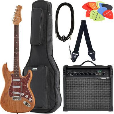 Brümmer E-Guitar ST-90SA DLX S Bundle