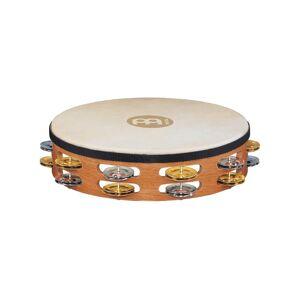 Meinl TAH-2-M-SNT Wood Tamburin,m/Skinn,Brass/Nikk. Dobb (M)