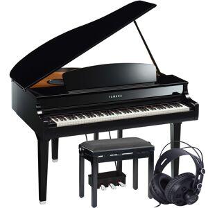 Yamaha Clavinova CLP-695GP Poleret Svart Digital Piano Pakkeløsning