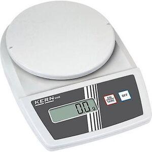 Kern brev skalerer vektklasser 1,2 kg lesbarhet 0,1 g batteridrevet, strøm-drevet (valgfritt) hvit