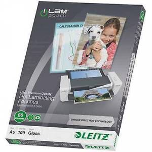 Leitz laminat ark a5 80 mikron skinnende 100 PC (er)